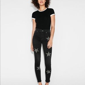 NWT Express Star Studded Skinny Jegging Jeans - 8L